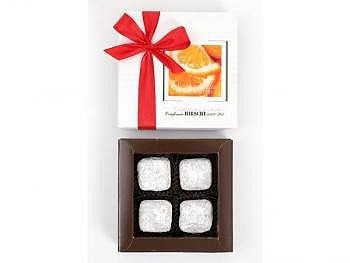Orangentruffes, 4 Stk.-Schachtel