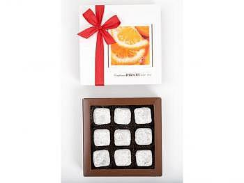 Orangentruffes, 9 Stk.-Schachtel